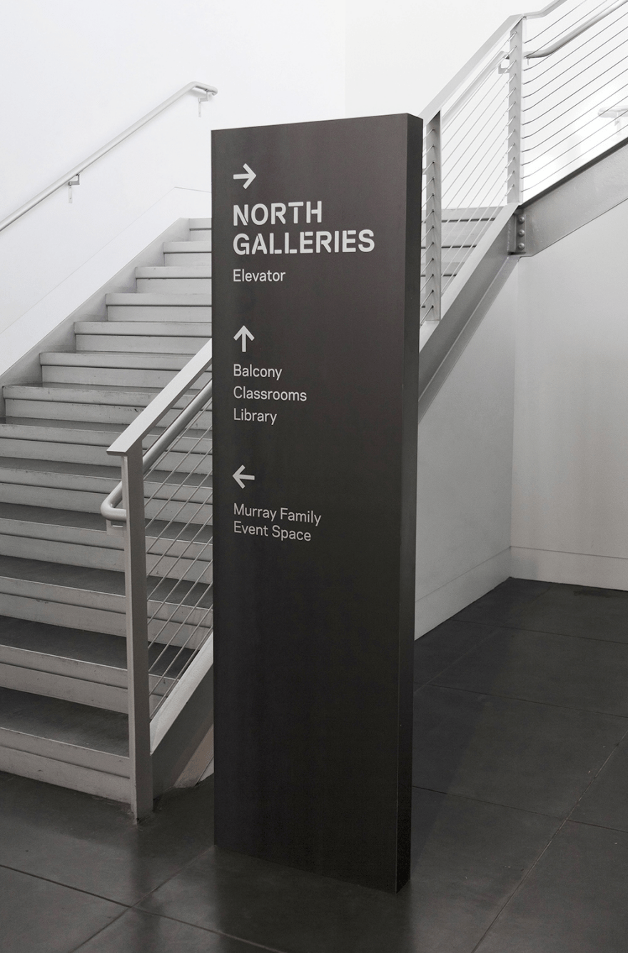 Tacoma Art Museum Signage And Wayfinding By Studio