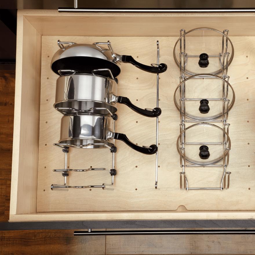 kitchen organizing challenge pot lids