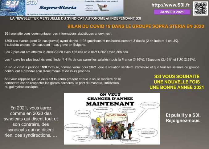 Communication Syndicale Mensuelle S3i Janvier 2021 Page 4