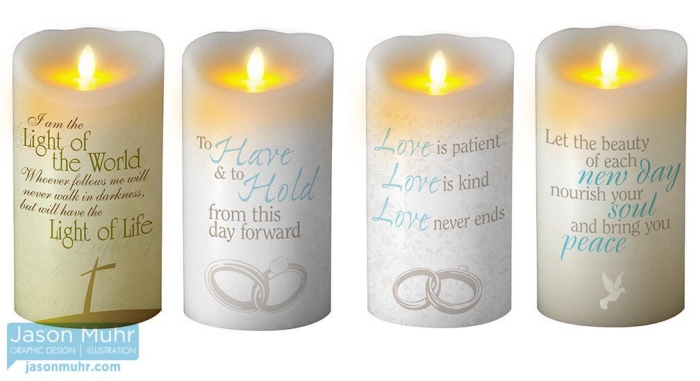Religious Candles By Jason Muhr At