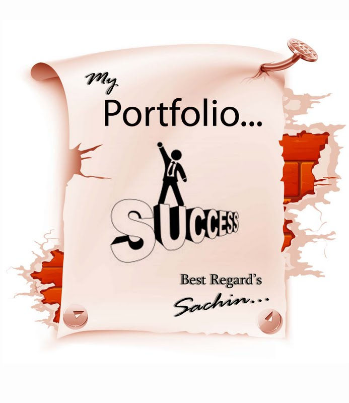 Front Page Of Portfolio By Sachin Gurav At