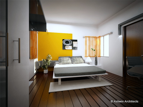 4 BHK Interior Design Jyothis Apartment Bangalore By