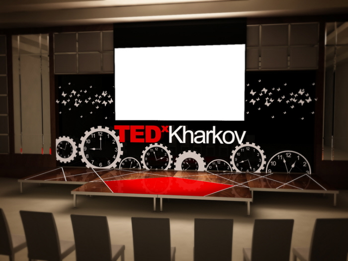 TEDx Stage Design By Vira Aharkova At
