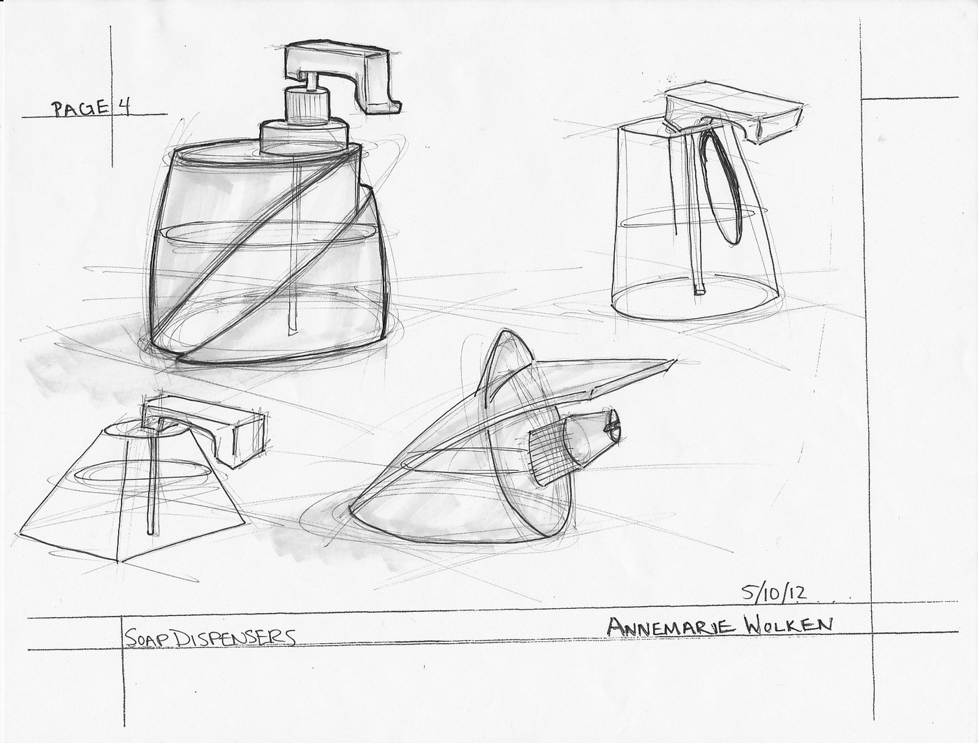 Sketch Dump Soap Dispensers By Annemarie Wolken At