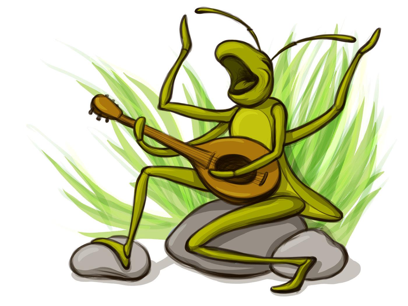 Grasshopper And The Ant By Adelya Tumasyeva At Coroflot