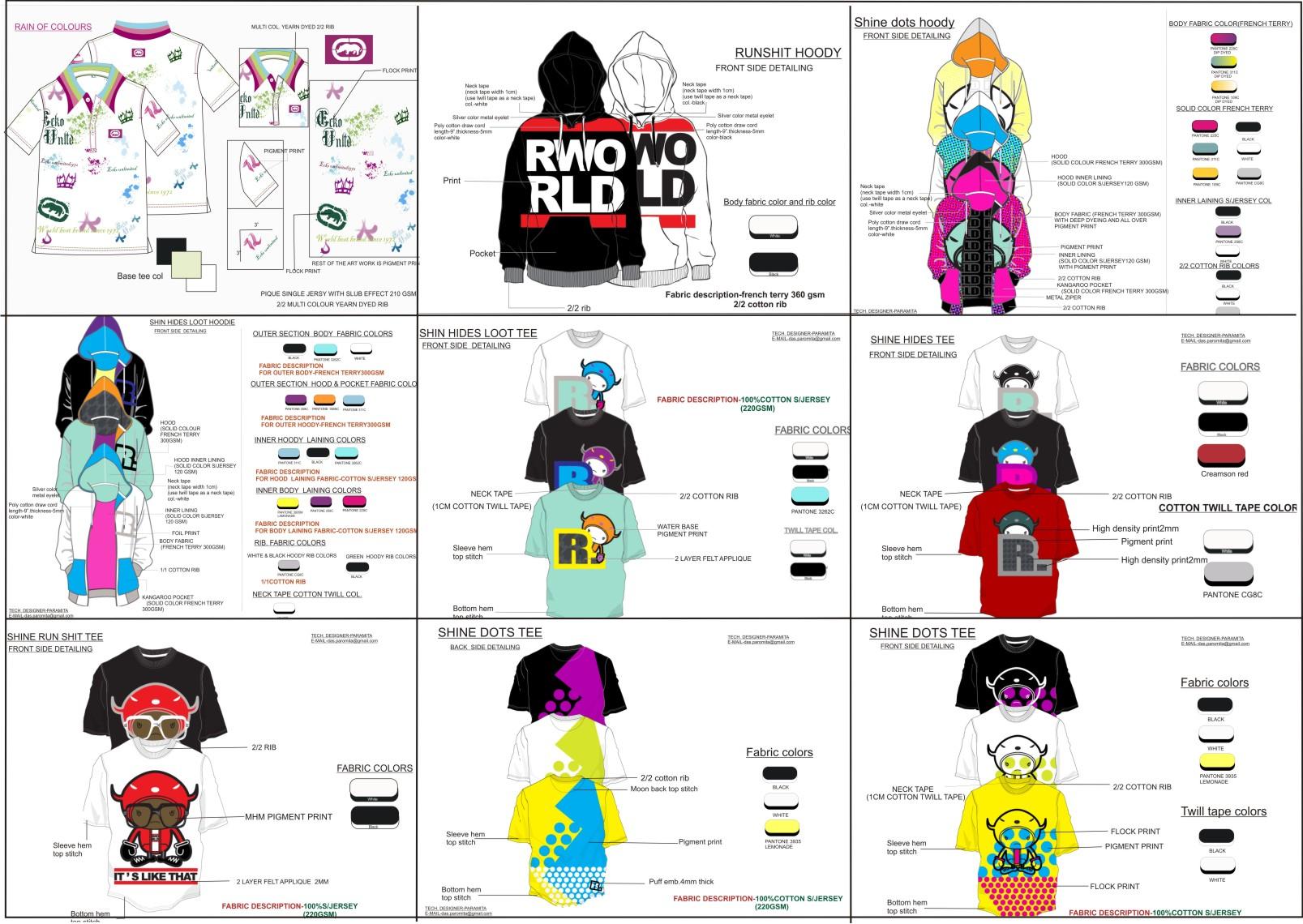 Tech Pack Design By Paromita Das Clothing Designer At