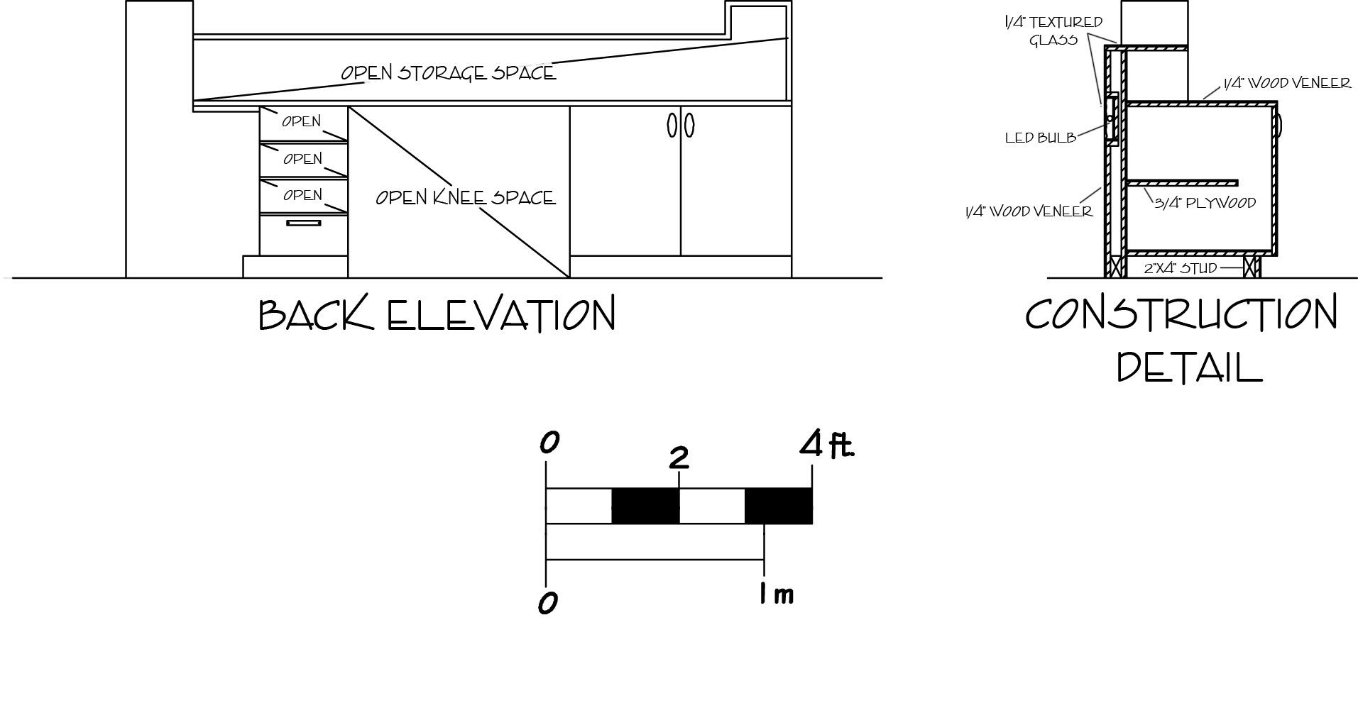 Build Plans Reception Desk Construction Details Wooden ...