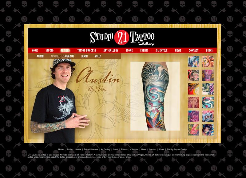 Studio 21 Tattoo Web Design. View original file MeLikey