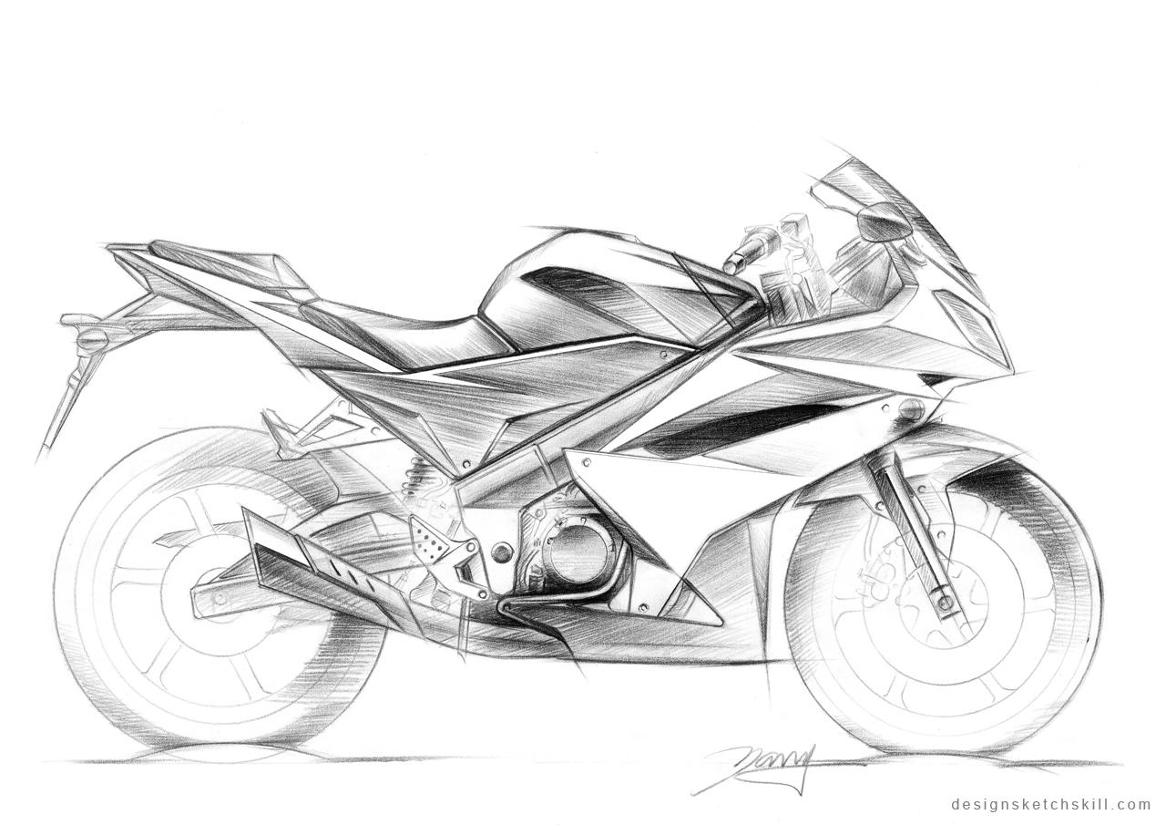 Motorcycle Sketch Tutorial By Yang Design At Coroflot