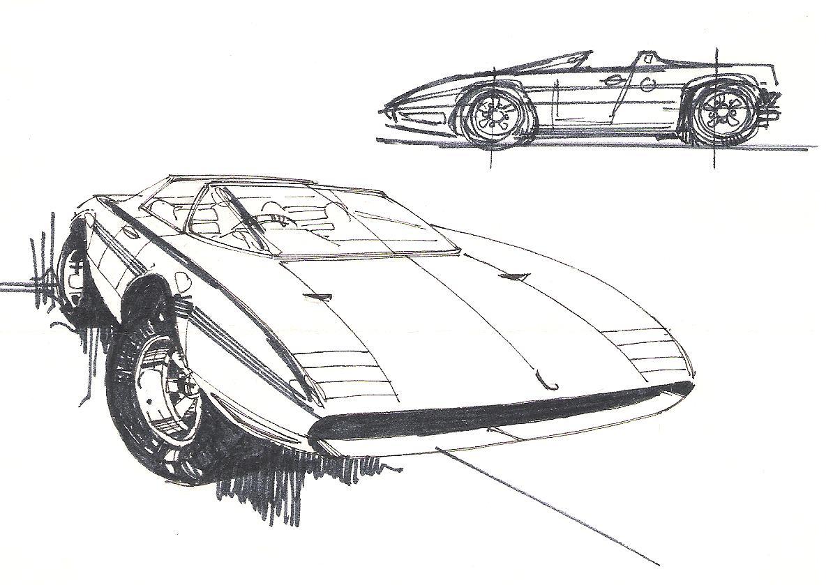Mid Engine Sports Car By Alberto Hernandez