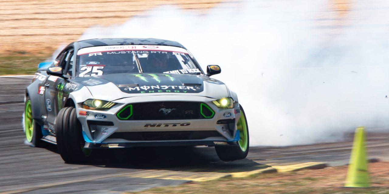 Vaughn Gitten, Jr. Drifts Nürburgring in his Vortech Supercharged Mustang.