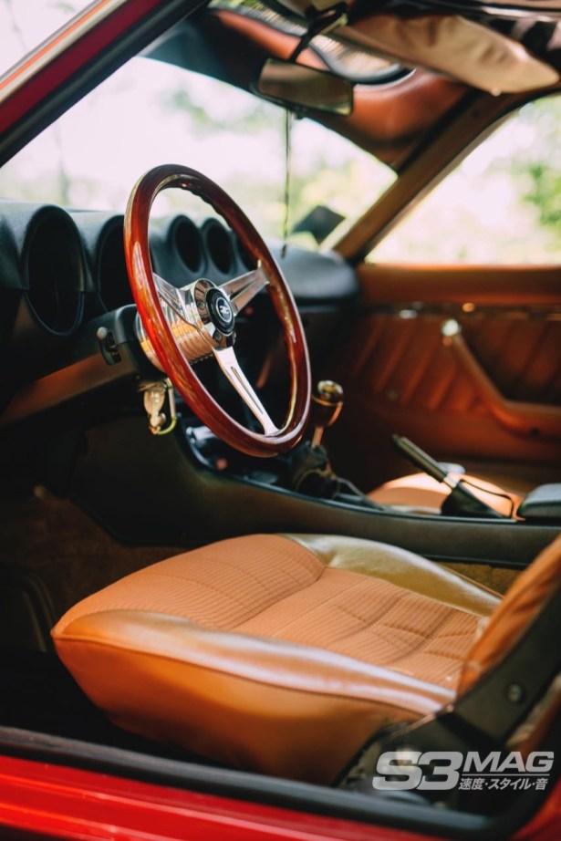 Datsun tan interior