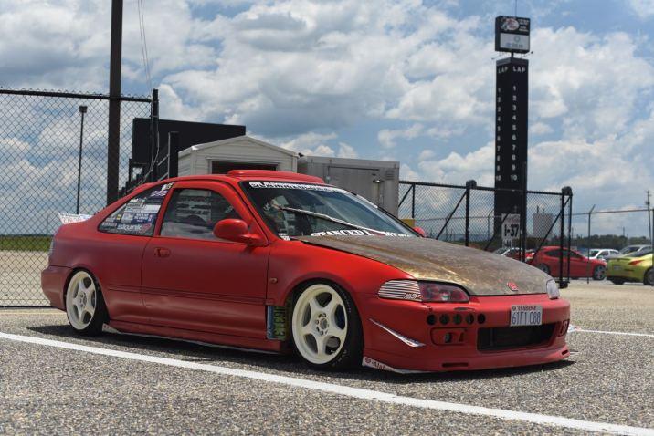 slammed Civic coupe