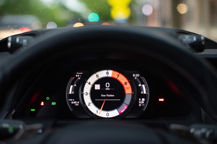 Lexus LS500 F sport gauges