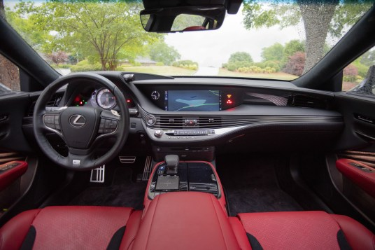 Lexus LS500 F sport red interior