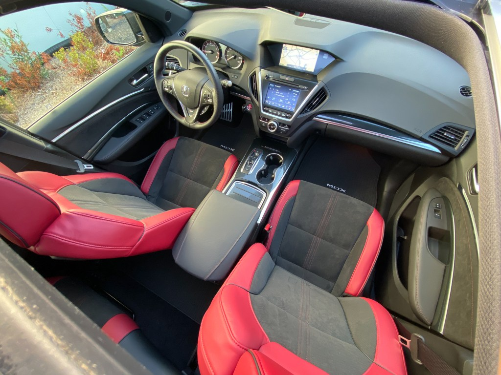 Acura MDX Aspec red interior