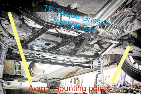 TB Performance Torque Gusset Traction Bar