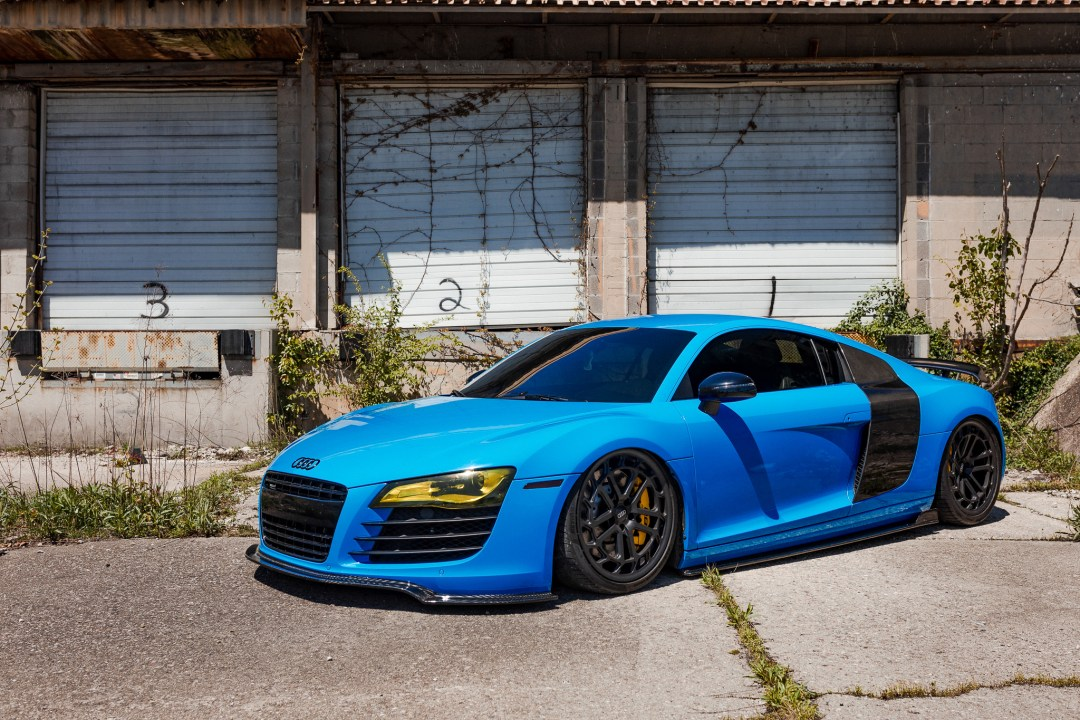 wrapped Audi R8