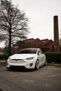 lowered Tesla