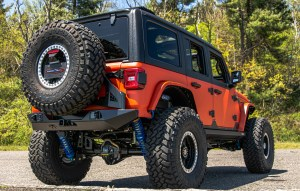orange Jeep Wrangler