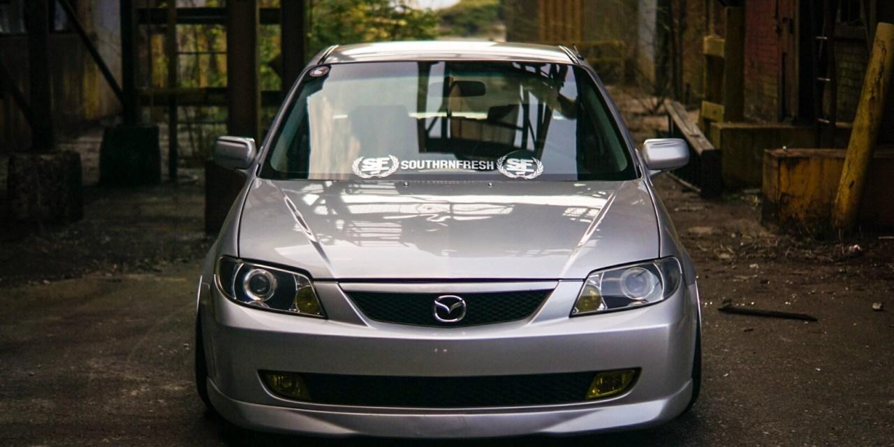 Battles' Archives: Alex Perrucci's Slammed Mazda Protege