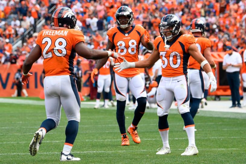Image result for royce freeman denver broncos