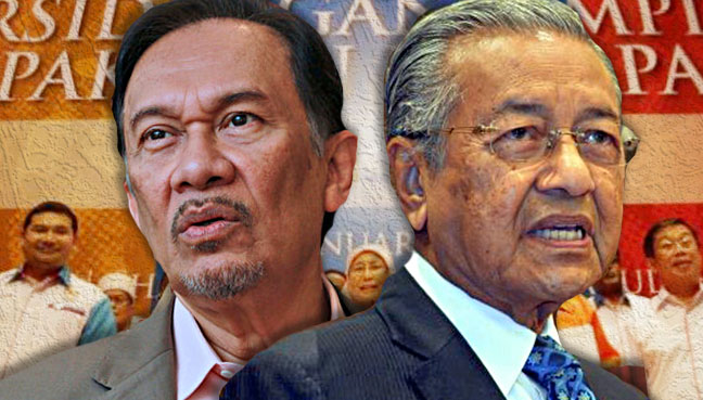 Image result for anwar ibrahim and mahathir mohamad