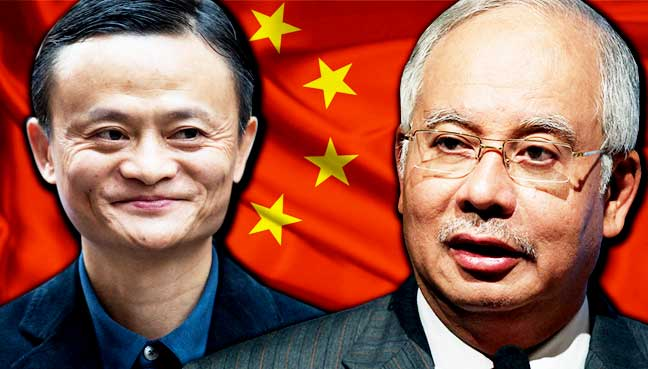 Image result for Najib Razak and China