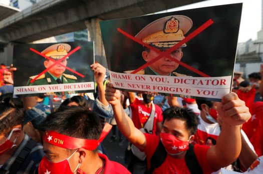 EU 'strongly condemns' Myanmar coup, demands release of ...