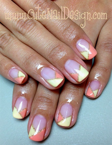 2 Color Pastel French Nails