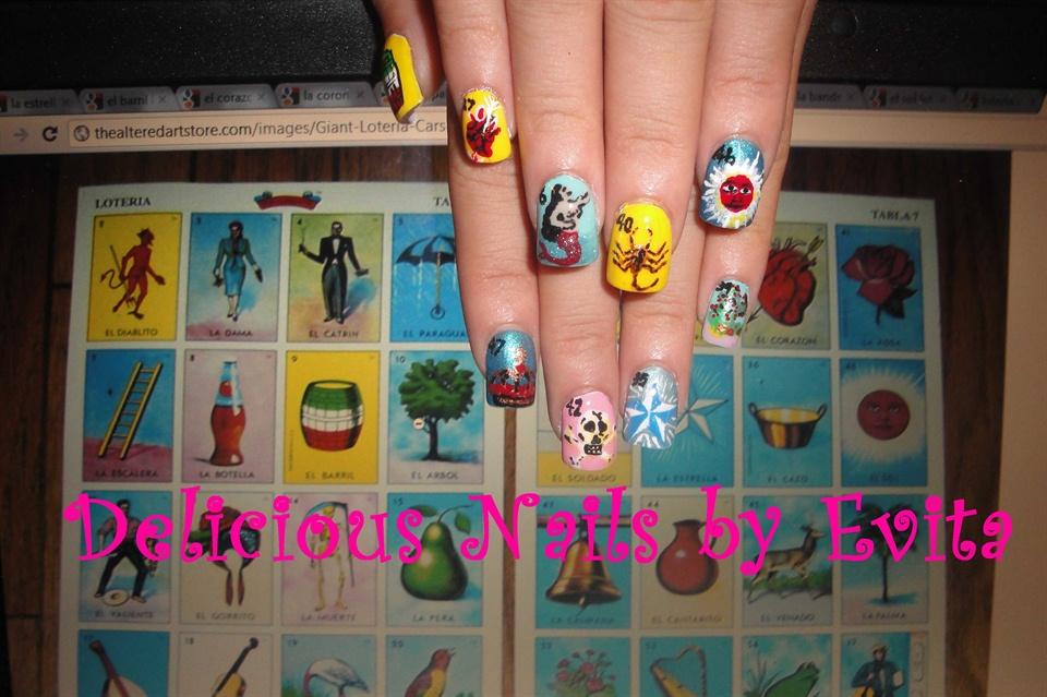 Mexican Bingo Nail Art Gallery
