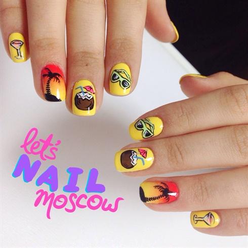 Tropical Summer Nails