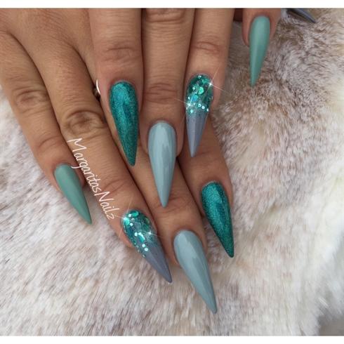 Grey Glitter Ombr 233 Sti Nails