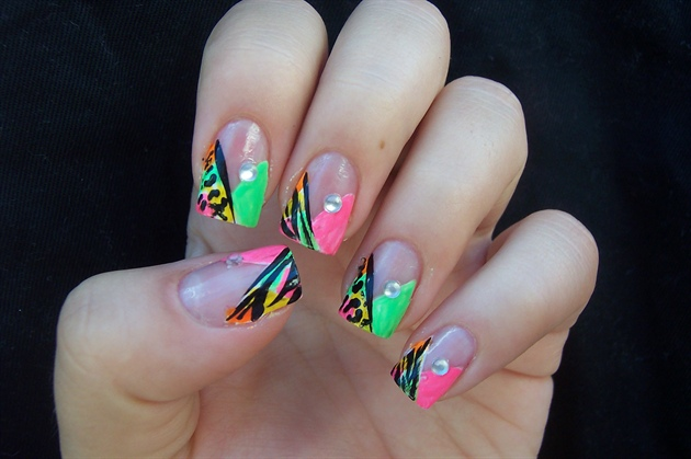 Neon Animal Print Inspired By Love4nails