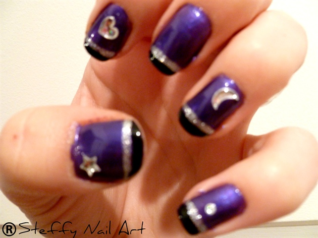 35 Dark Purple Nail Art Design Ideas Nails With Sting F