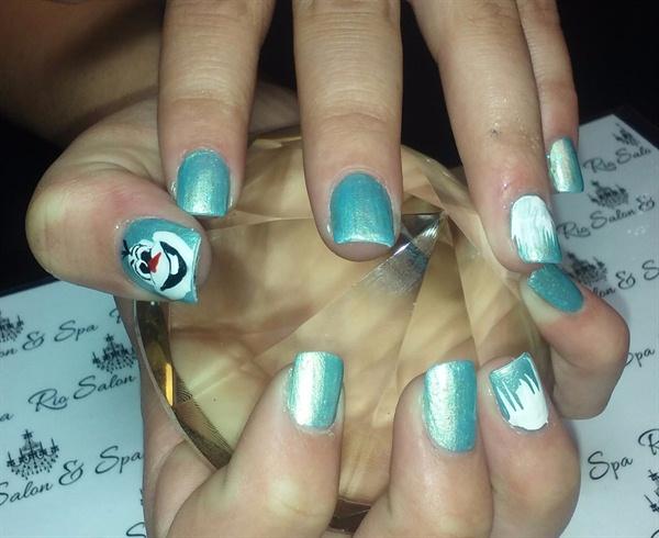 Olaf Christmas Nail Art Frozen Disney