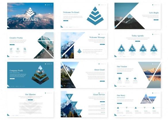 Gizari Google Slides - Triangle Theme