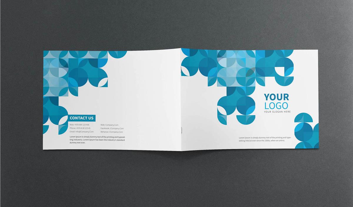 Modern Blue and White Company Brochure