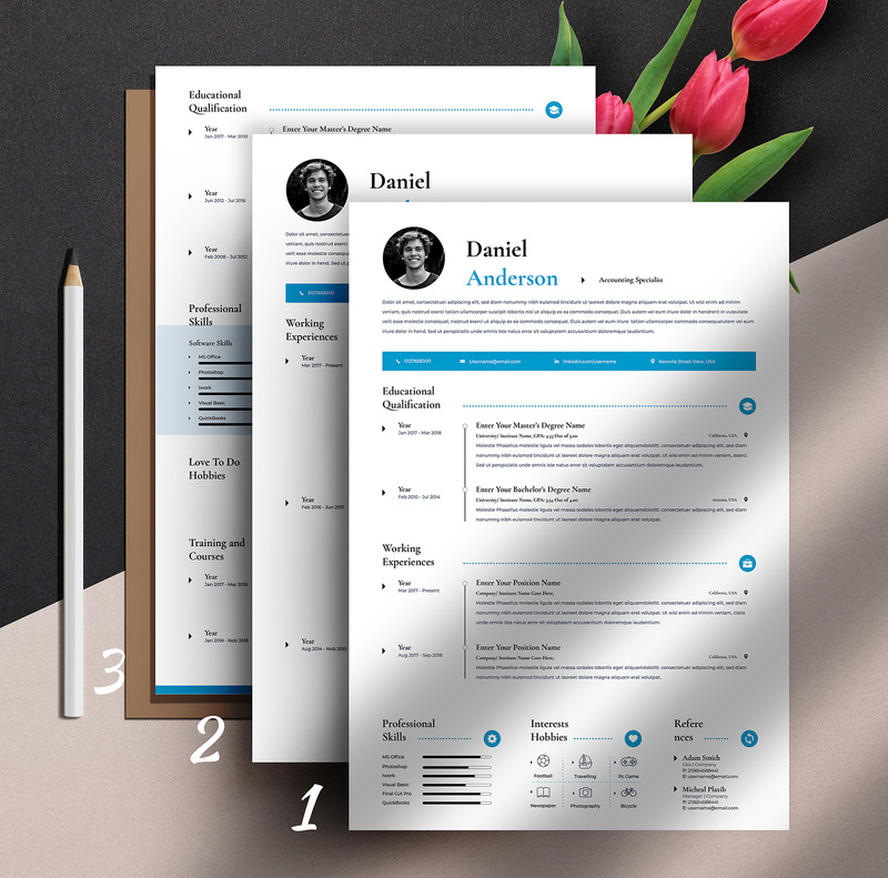 Best resume template for word & pages online, one, two, three page resume template, professional resume with free cover letter, instant resume download cv. Free Clean Professional Editable Word Apple Pages Cv Resume Template
