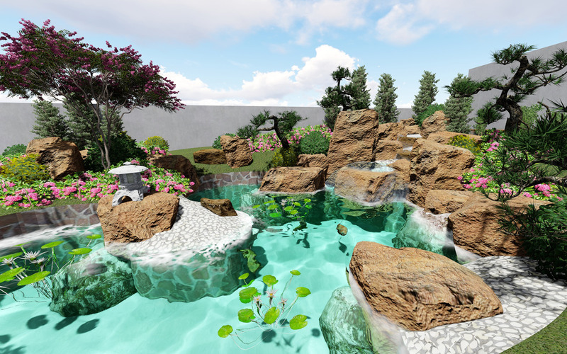 Chinese style beautiful garden model design - Features Image 1