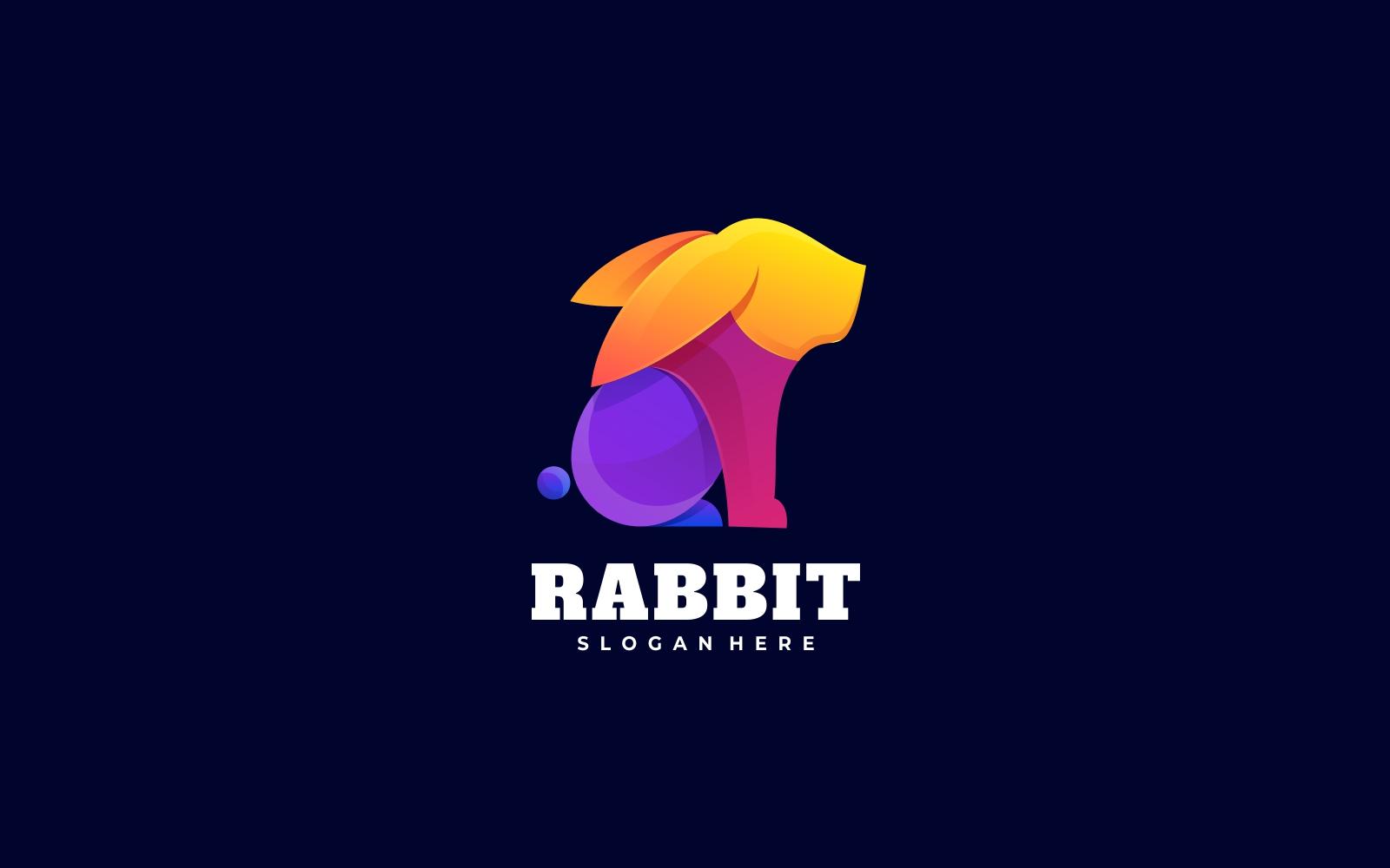Rabbit Gradient Colorful Logo Style