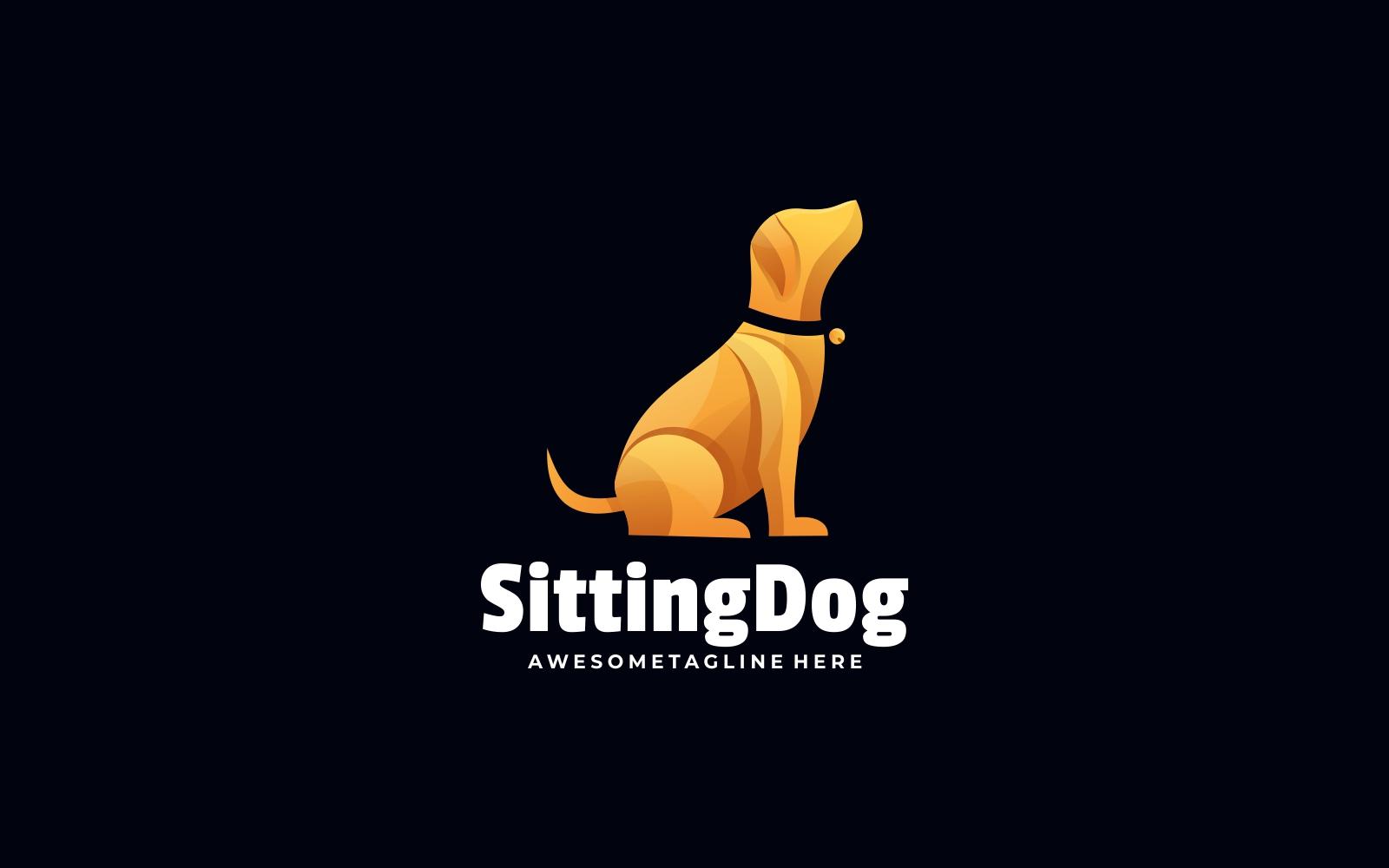 Sitting Dog Gradient Logo