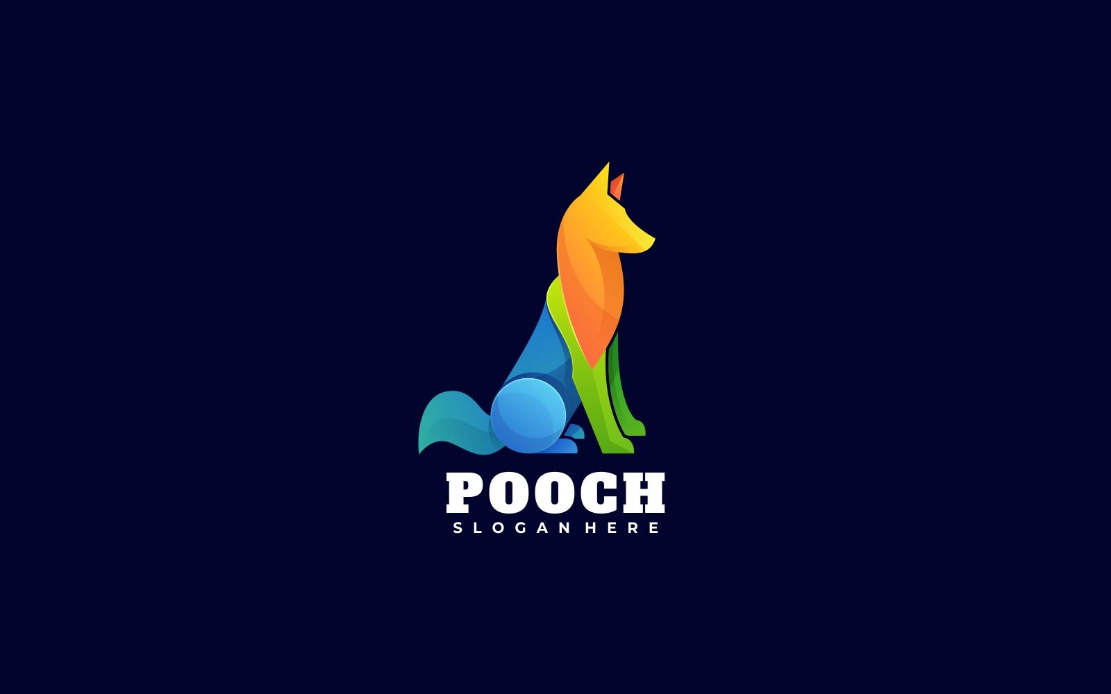 Dog 3D Gradient Colorful Logo Template
