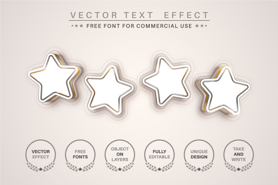 Gold Line - Editable Text Effect, Font Style, Graphics Illustration