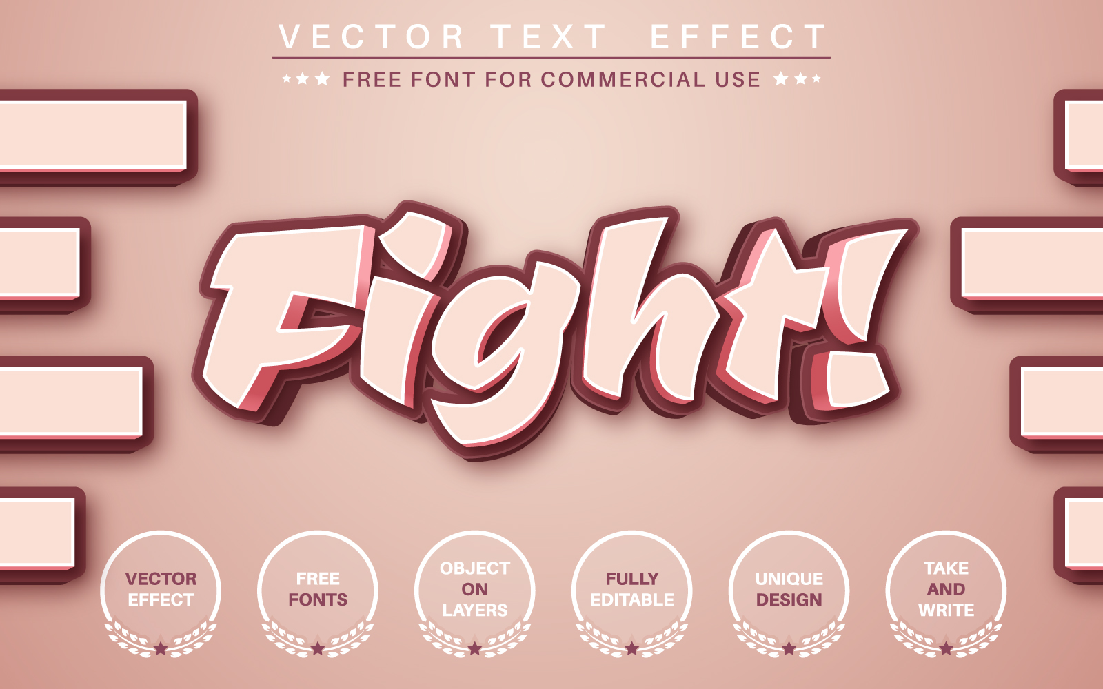 Fight! - Editable Text Effect, Font Style Graphic Illustration