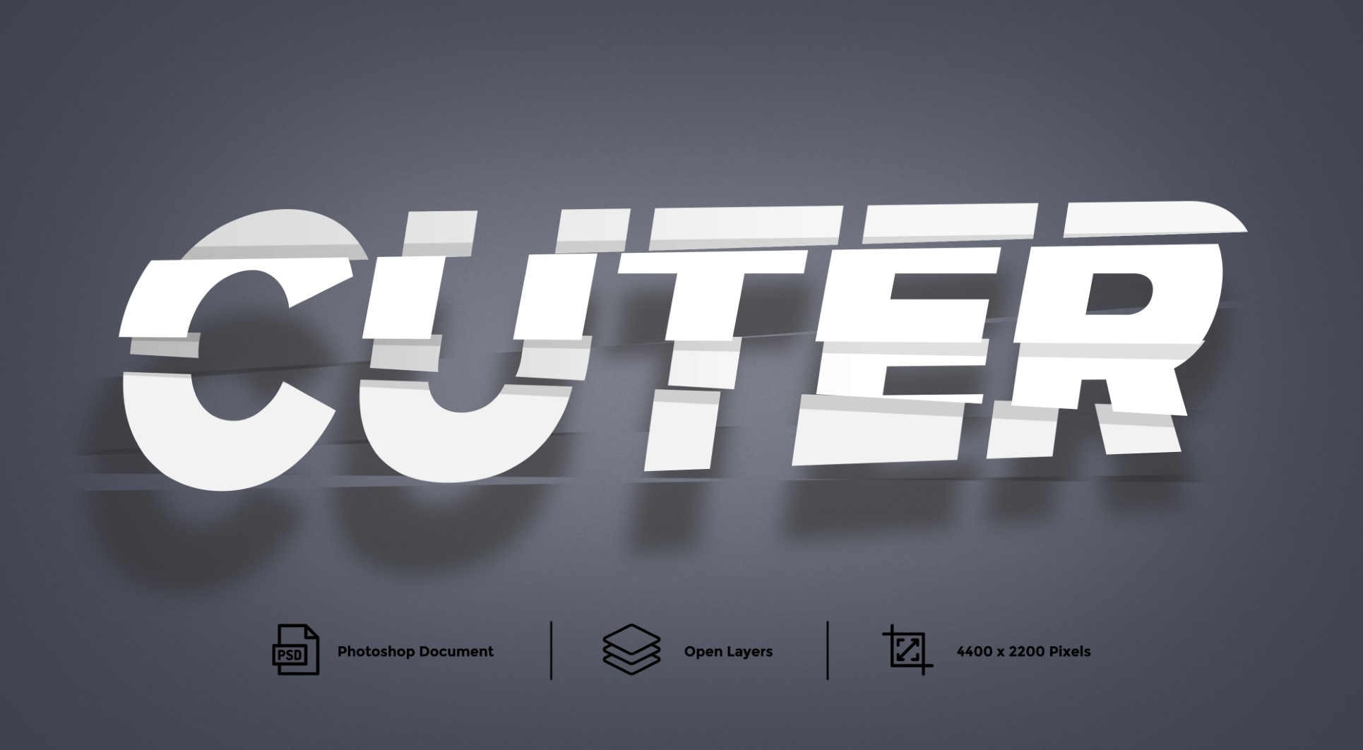 Cutting Photoshop Text Effect Layer Style