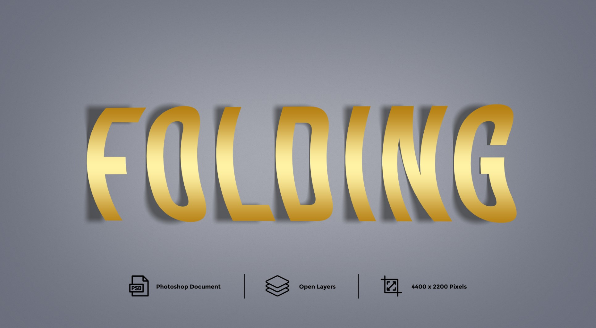 Folding Photoshop Text Effect and Layer Style