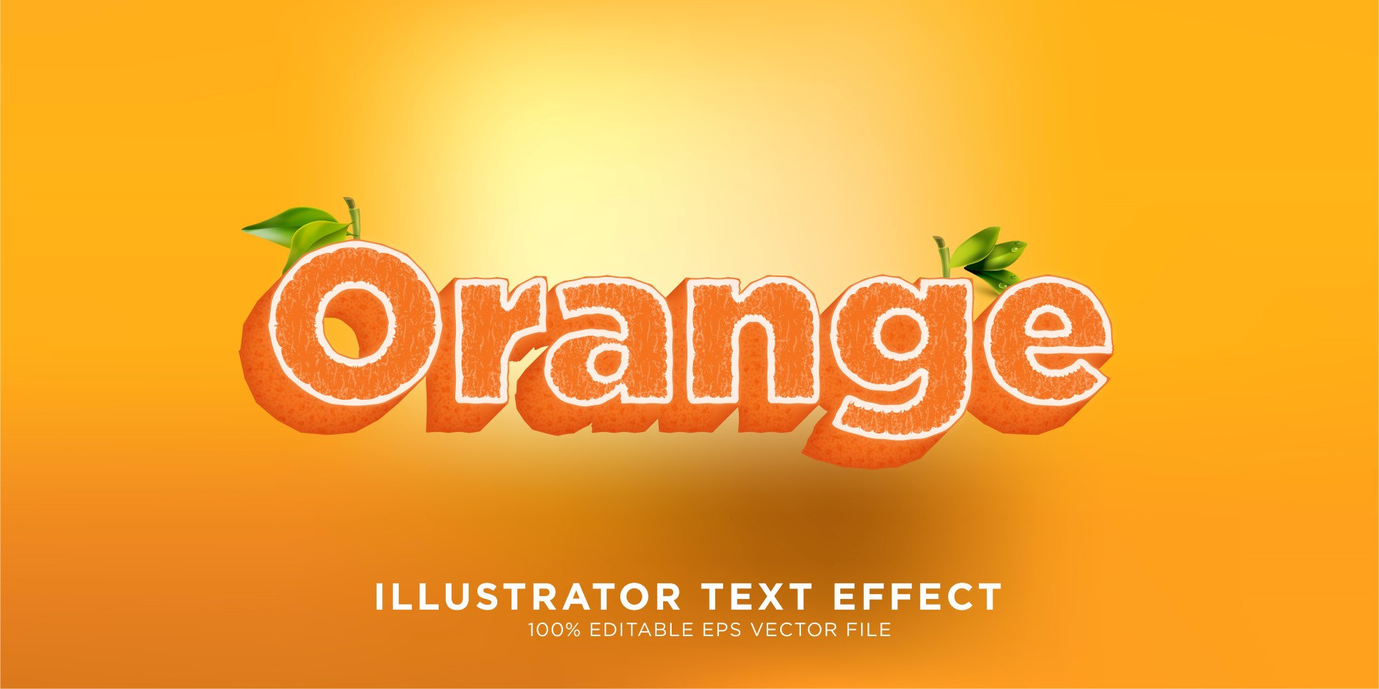 Orange illustrator Text Effect Illustration