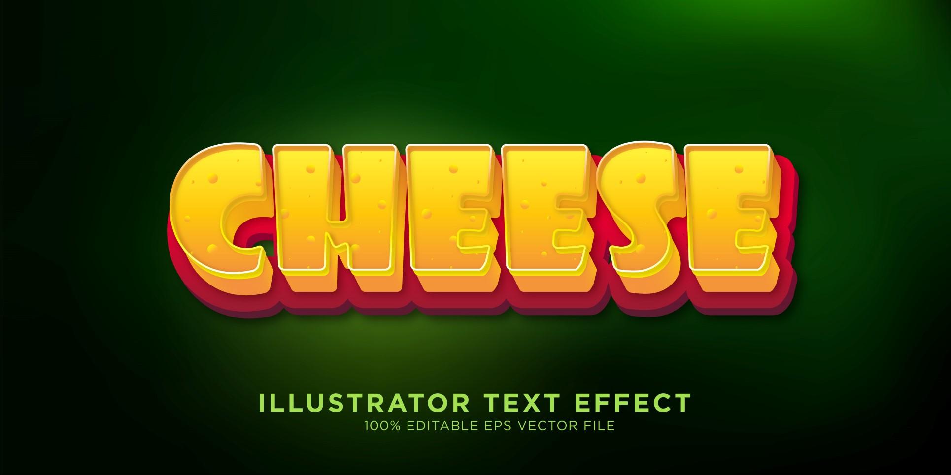 Cheese Illustrator Text Effect Illustration