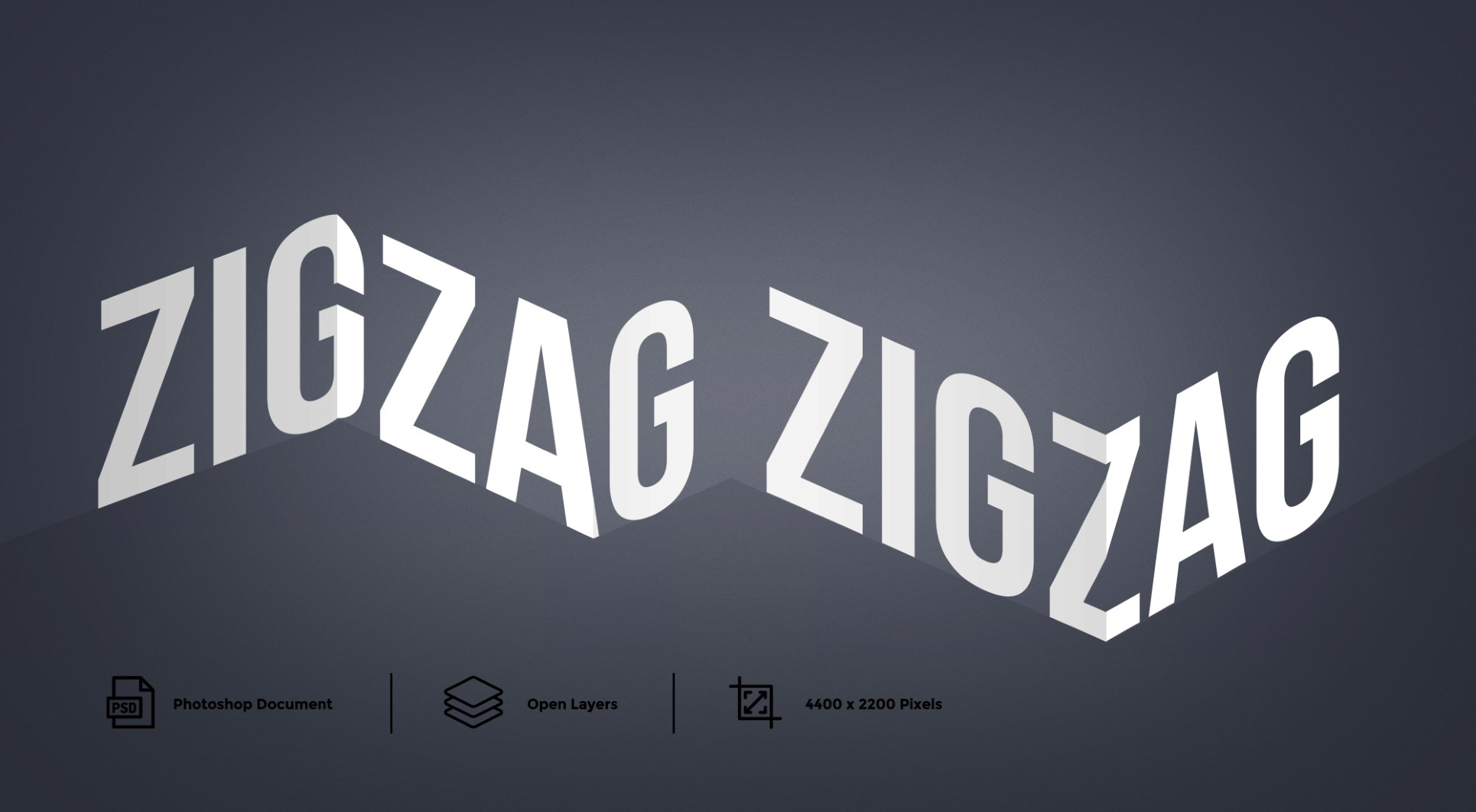 Zig Zag Photoshop Text Effect And Layer Style